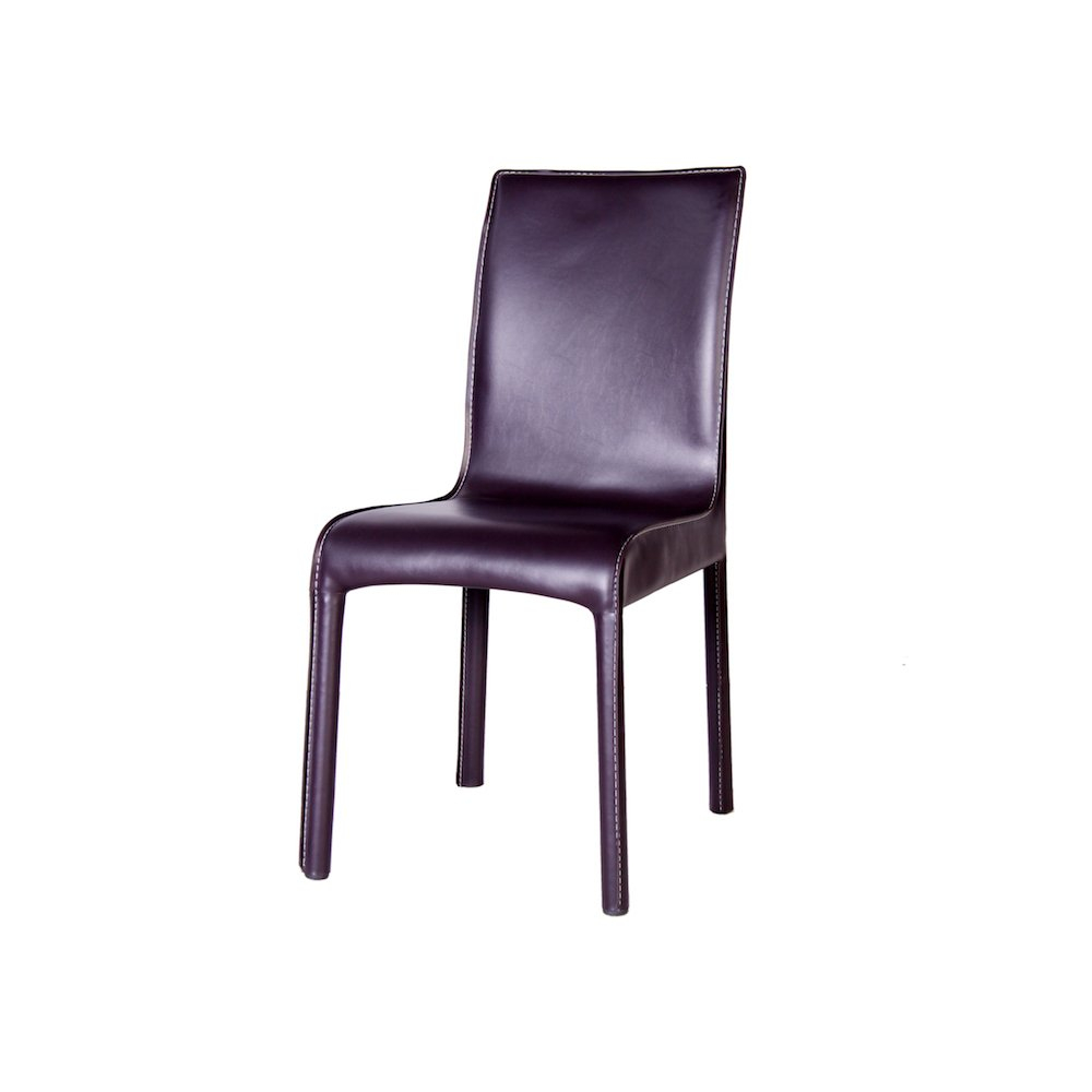 Shop Creta Chocolate Leather Dining Chair Free Shipping Today