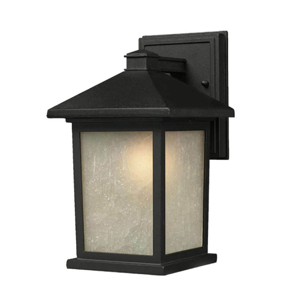 Shop Holbrook 1 Light Black Outdoor Wall Light On Sale Free