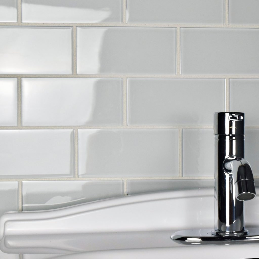 Shop Somertile 3x6 Inch Reflections Subway Ice White Glass Wall Tile