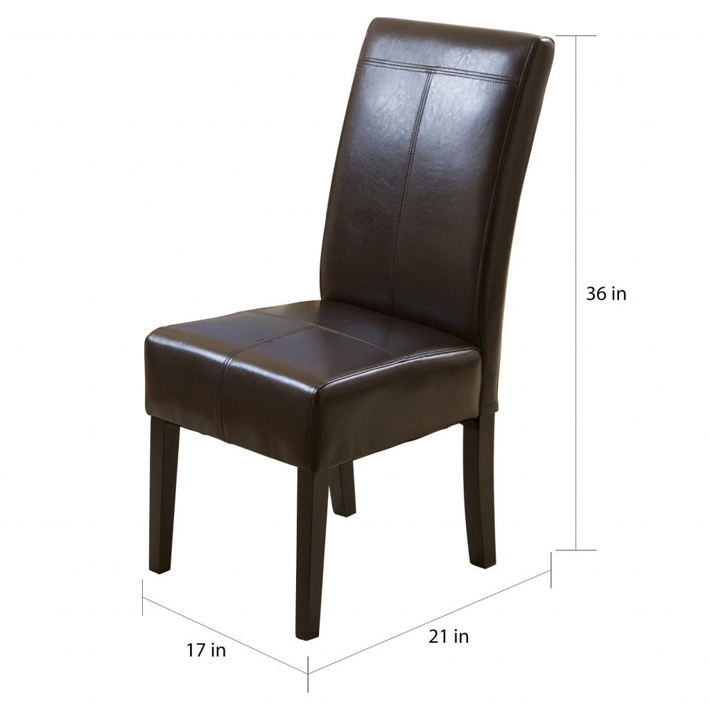Shop T Stitch Chocolate Brown Bonded Leather Dining Chair Set Of 6