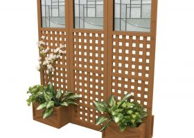 Outdoor Planters with Privacy Screen