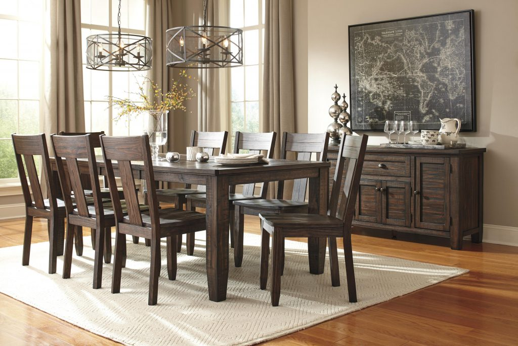 Signature Design Ashley Trudell 7 Piece Oval Dining Table Set