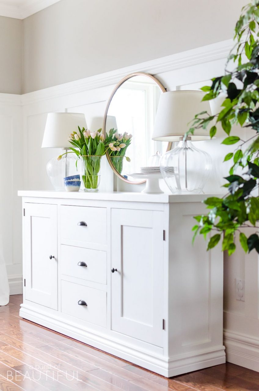 Simple Modern Farmhouse Sideboard Buffet Diy Projects Pinterest