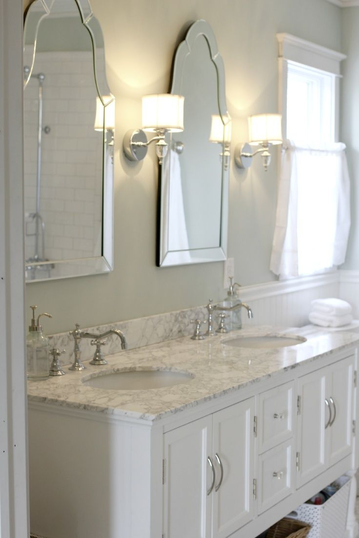 Sinks With Venetian Mirrors And Pretty Sconces Kates Bathroom Layjao