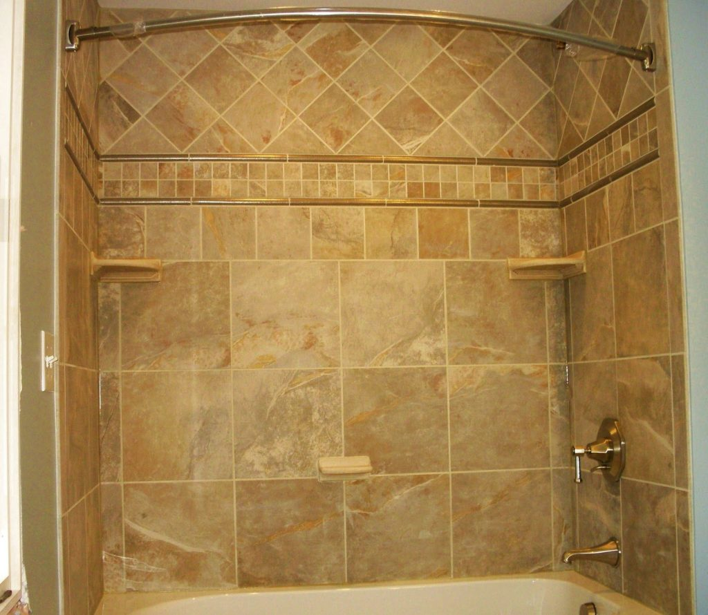 Small Bathroom Shower Tile Ideas Showers Fixtures Terkaya