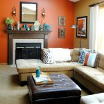 Orange Color Paint Living Room Ideas