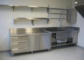 Stainless Steel Commercial Kitchen Wall Shelves