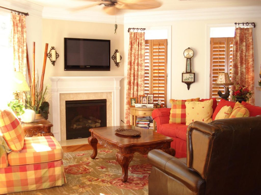 Style Country Living Room Ideas Living Room Curtains Design