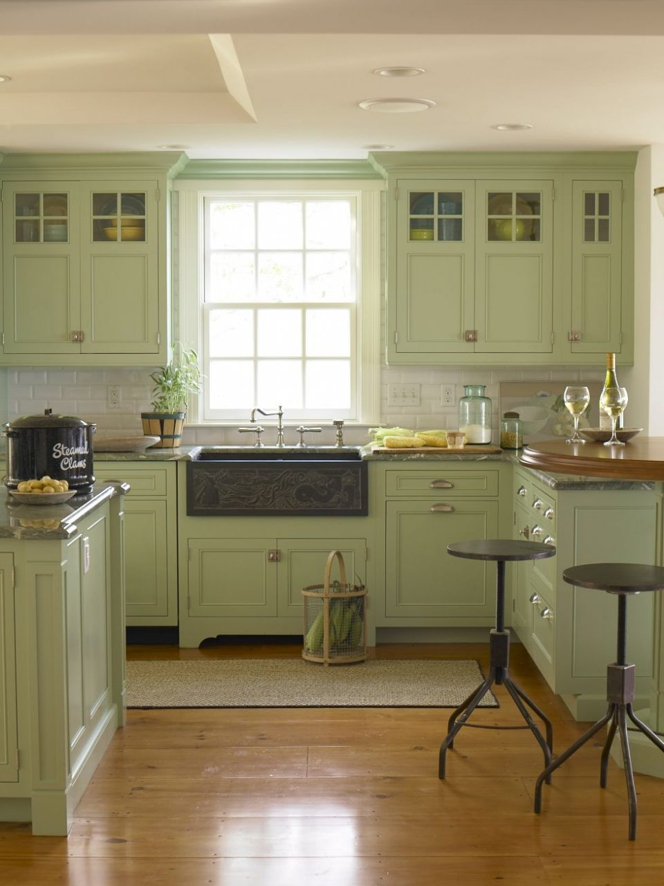 Styling A Summer Country Living Feature Kitchen And Dining Green