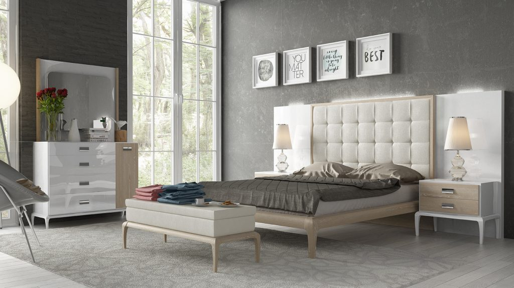 Stylish Wood High End Bedroom Furniture With Extra Storage Augusta