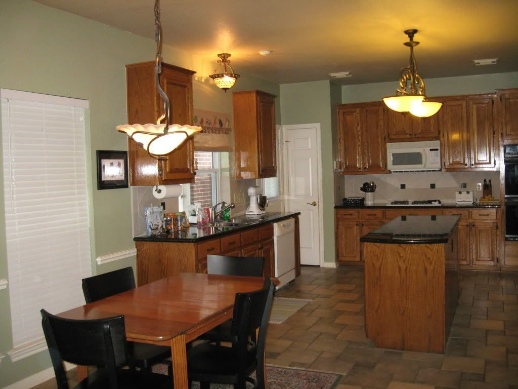 Sw Svelte Sage Paint Color With Oak Cabinets Forest Ave House Green