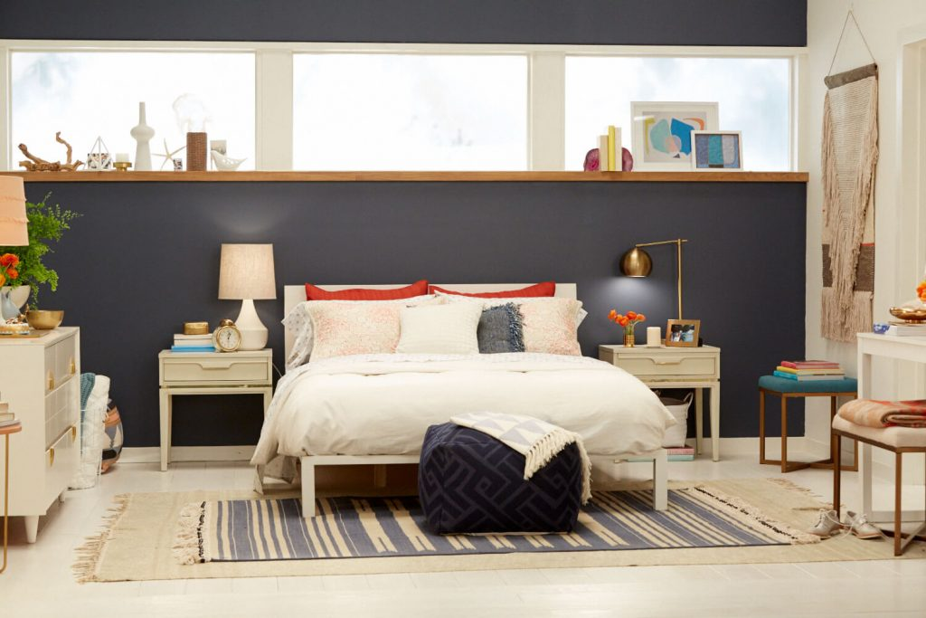 Target Chapter 7 Navy Blue Accent Wall Bedroom Makeover Emily
