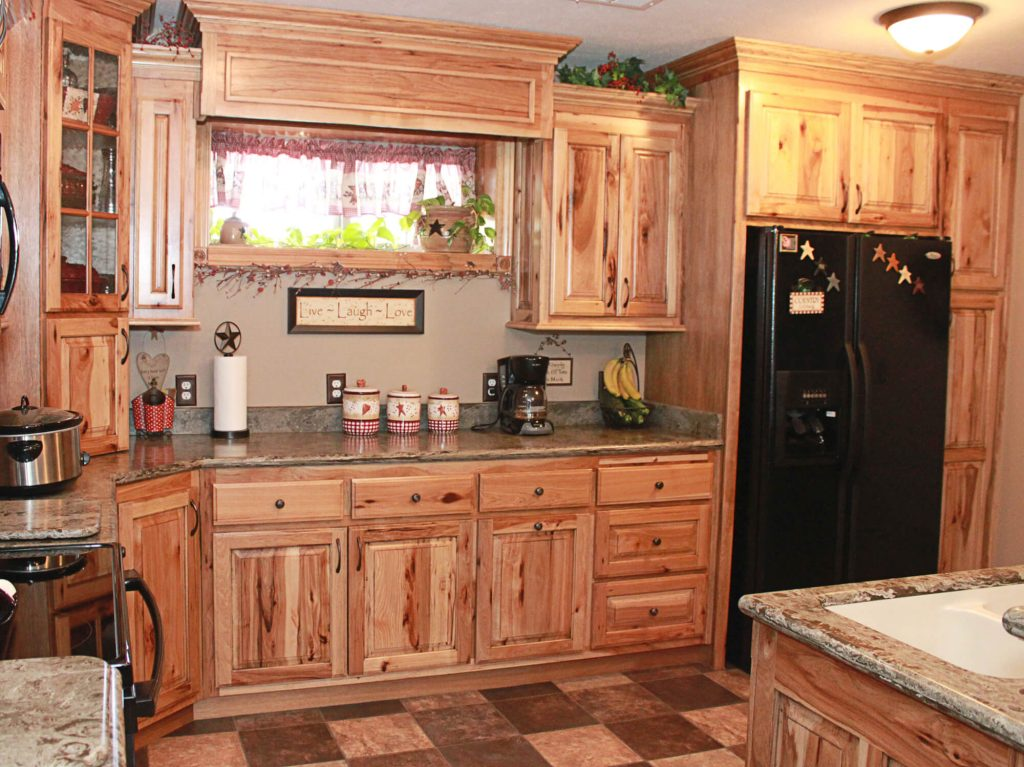 The Cabinets Plus Rustic Hickory Kitchen Cabinets Wood Garage
