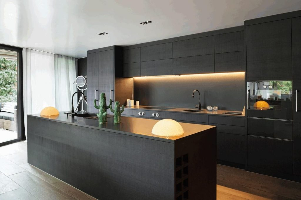 The Decor Ideas Modern Kitchen Cabinets Design Black And White You