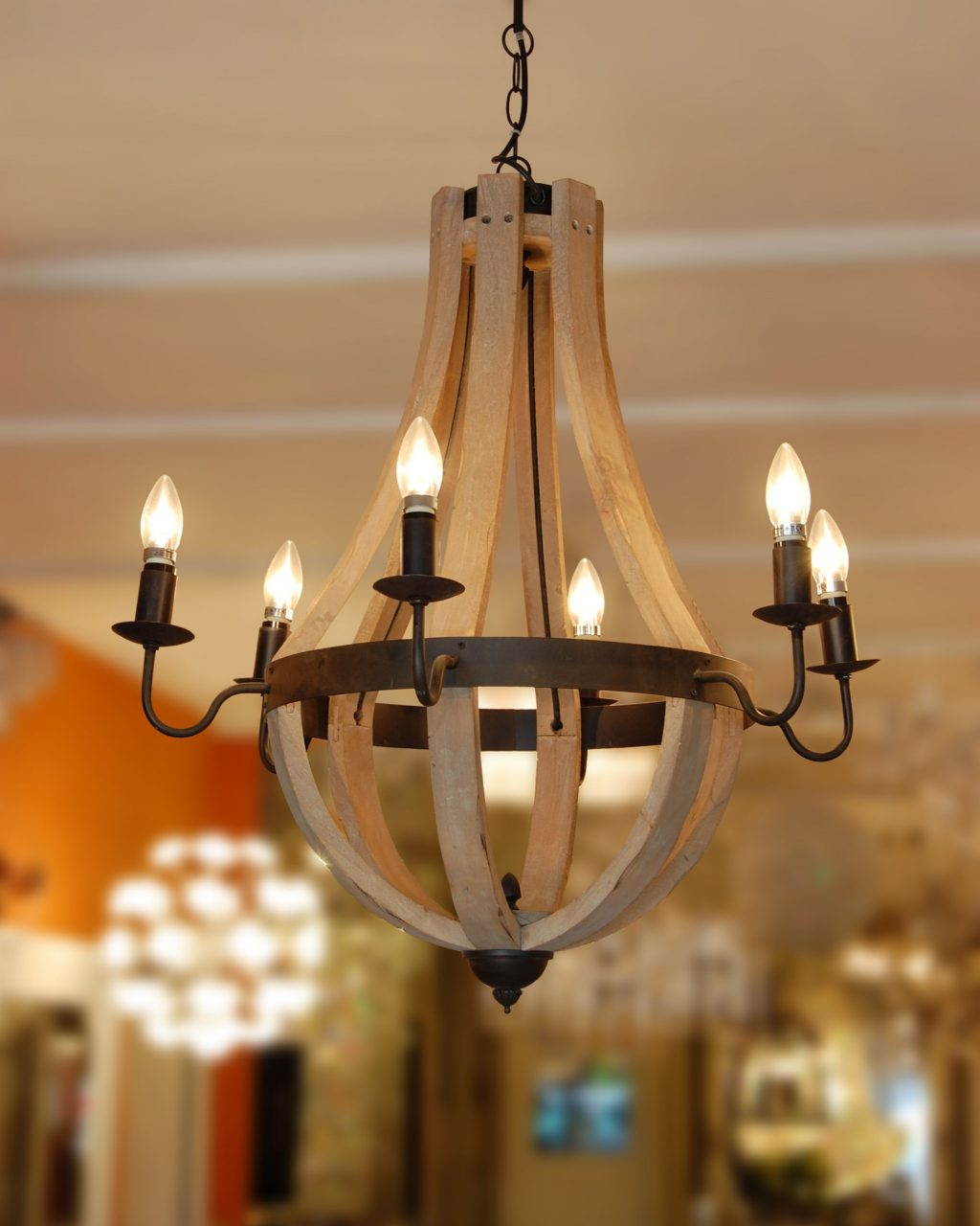 The Manning Chandelier Is A Simple Lovely Turned Wood Chandelier A