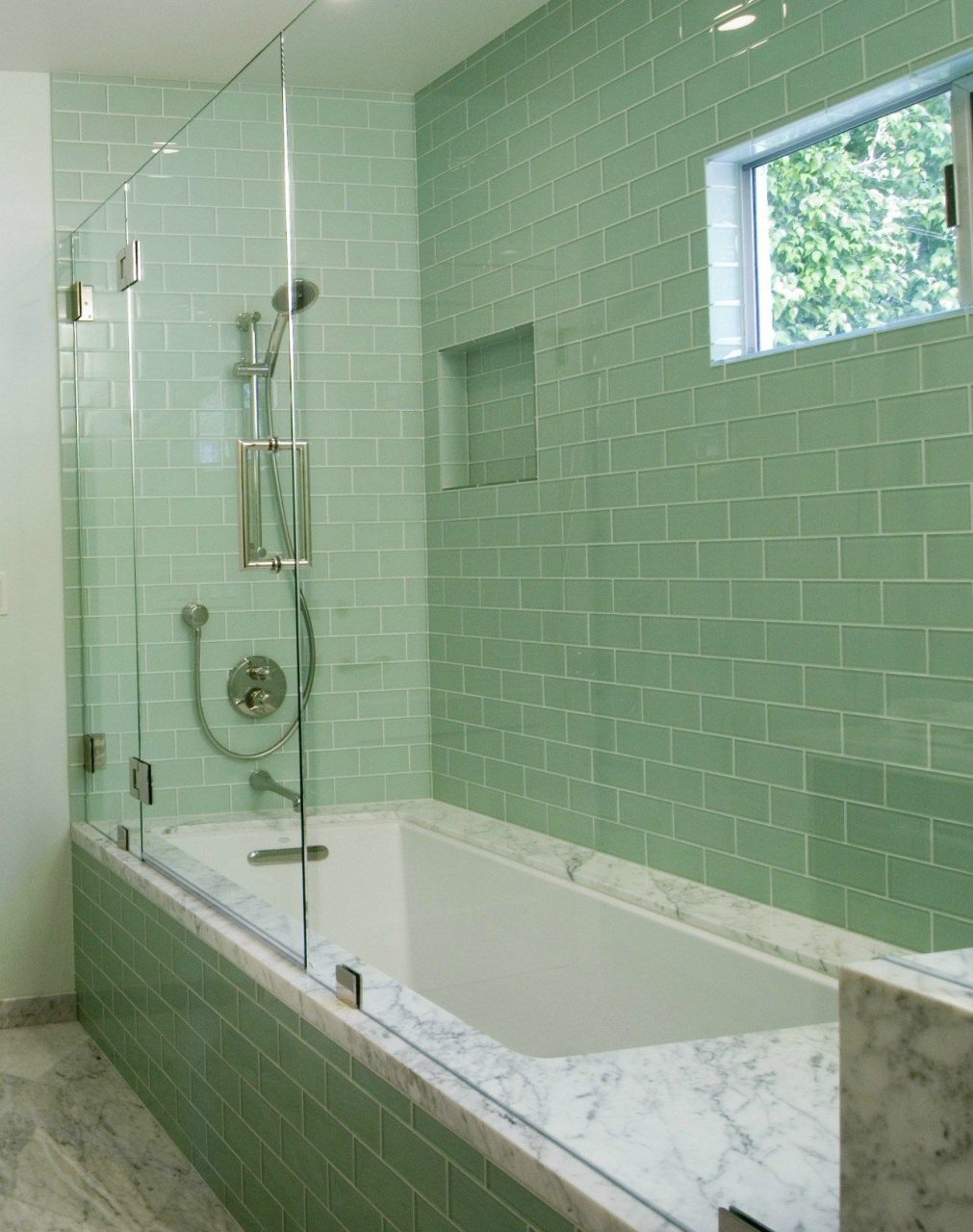 Tiles Kitchen Bathroom Inspiration Modern Green Glass Subway Tile
