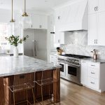 White Kitchens with Island Pendant Lighting