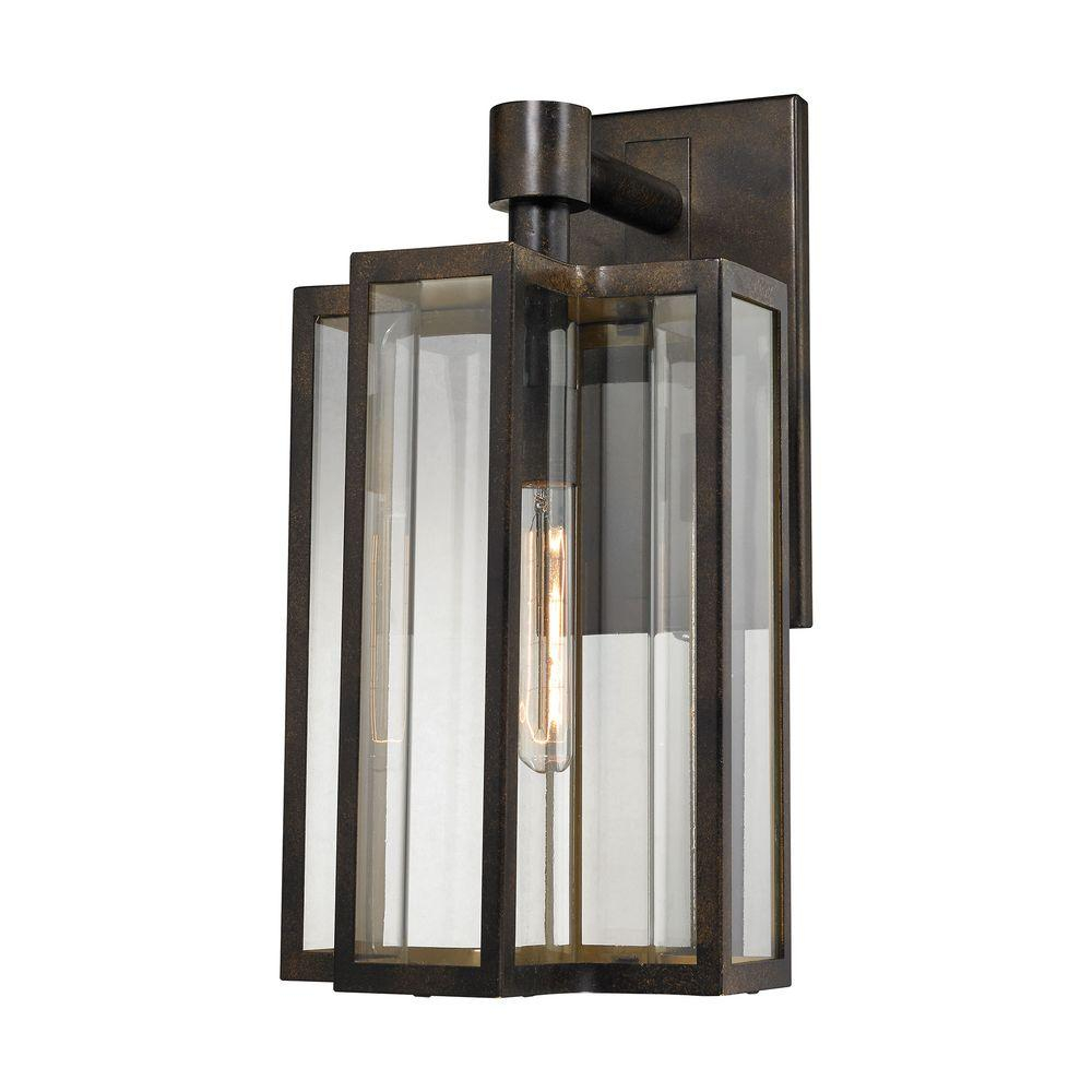 Titan Lighting Bianca 1 Light Hazelnut Bronze Outdoor Sconce Tn