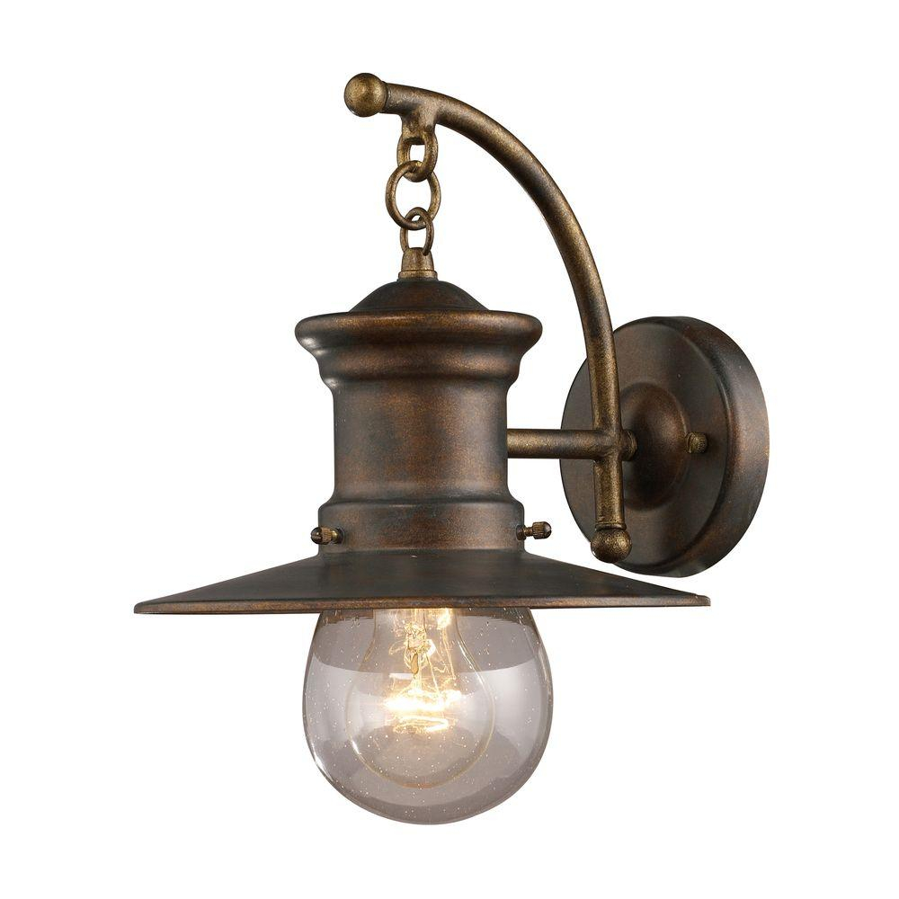 Titan Lighting Maritime Wall Mount Outdoor Hazelnut Bronze Sconce Tn