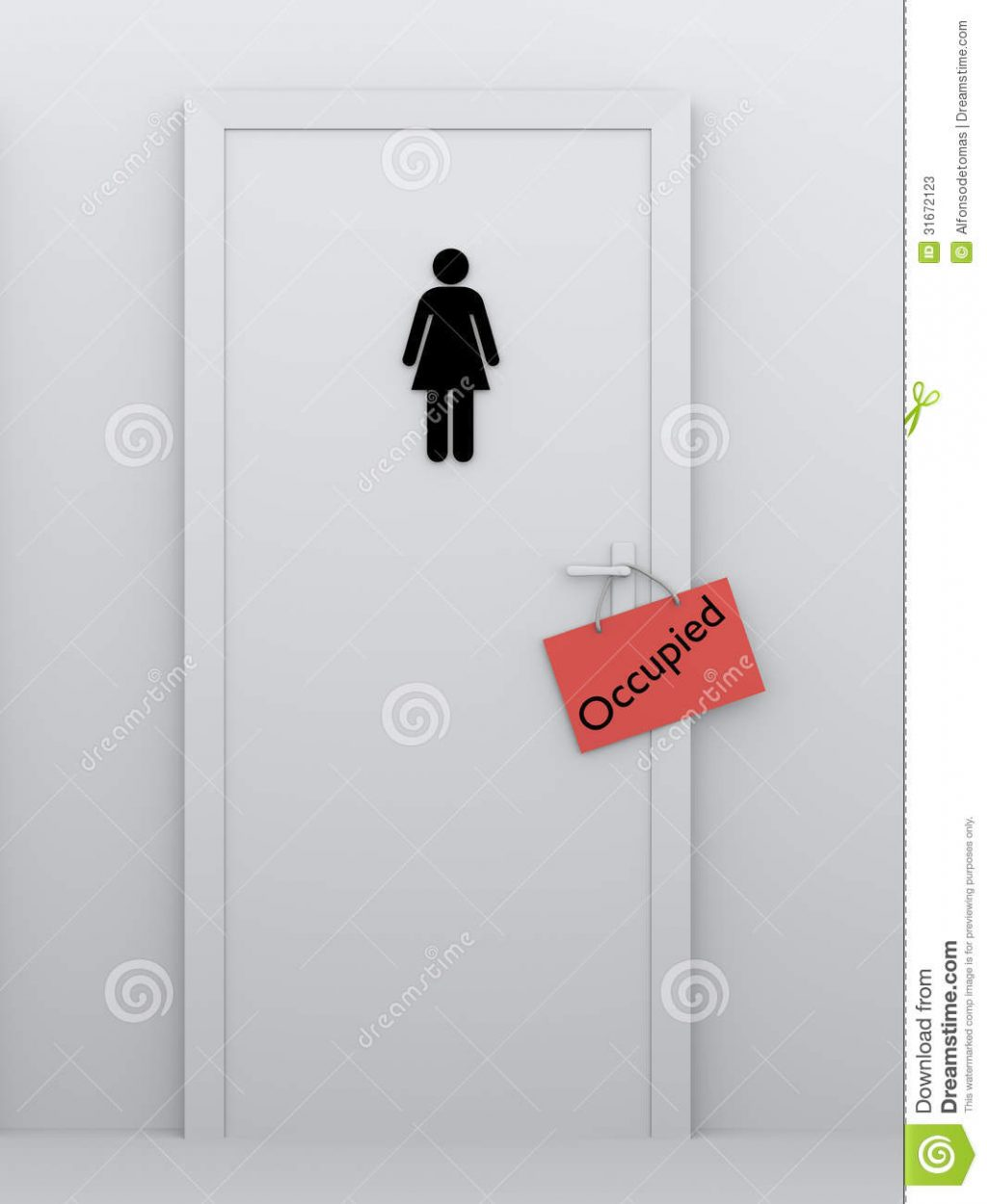 Toilet For Women Occupied Stock Illustration Illustration Of Icon