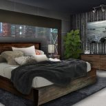 Topnotch Young Mens Bedroom Ideas With Wooden Drawer Under Painting