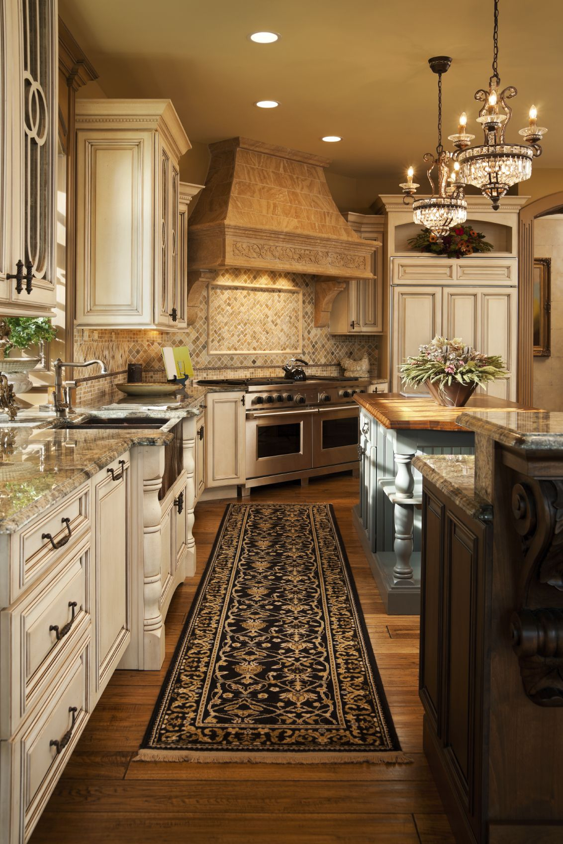 Traditional Kitchen With White Cabinets French Country Styles Layjao