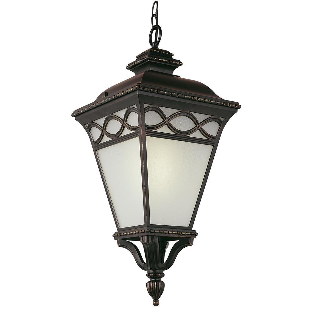 Transglobe 1 Light Bronze Outdoor Hanging Lantern Pl 50517 Brb The