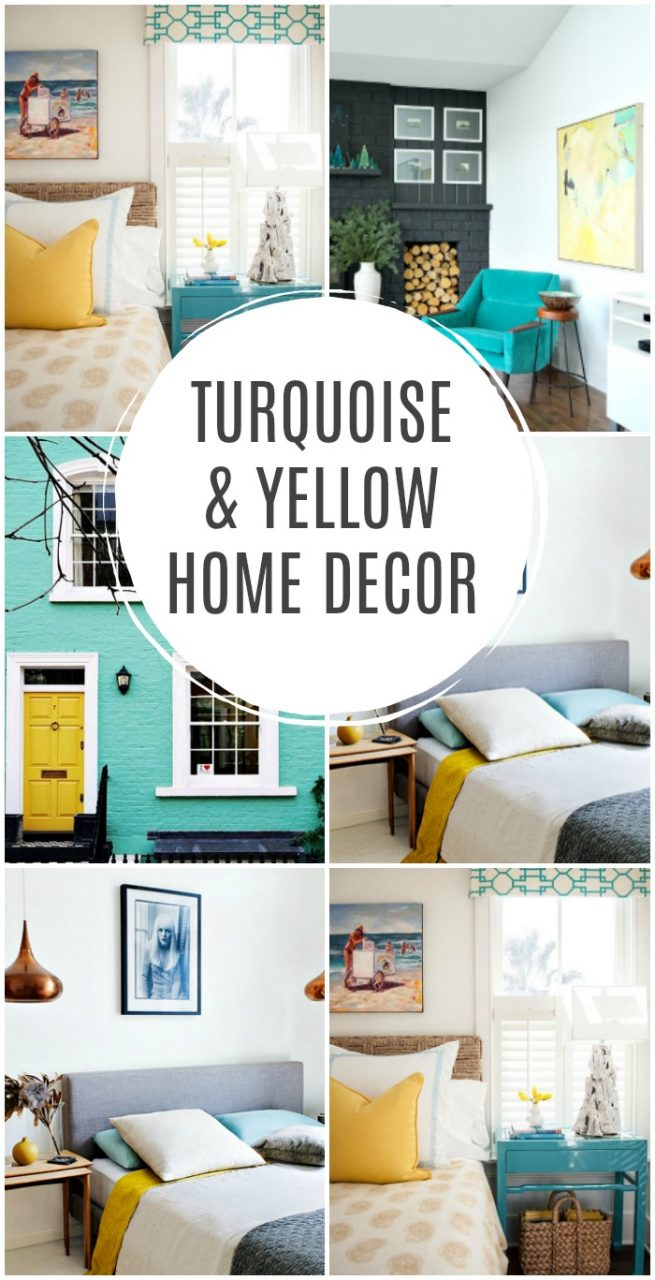 Turquoise And Yellow Home Decor Inspiration Dans Le Lakehouse
