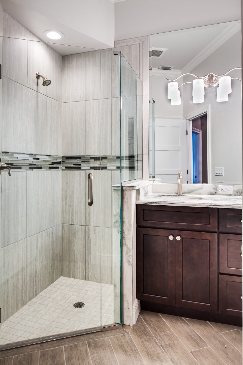 Vanity Mirror With Sconces The Glass Shoppe A Division Of Builders
