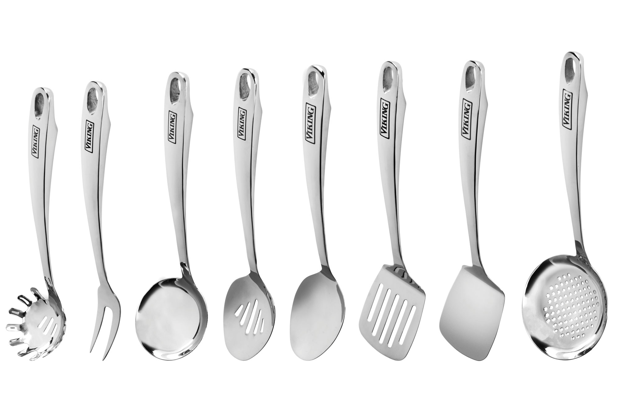 Viking Stainless Steel Kitchen Utensil Set 8 Piece Cutlery And More
