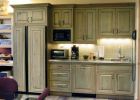 Green Distressed Kitchen Cabinet Doors