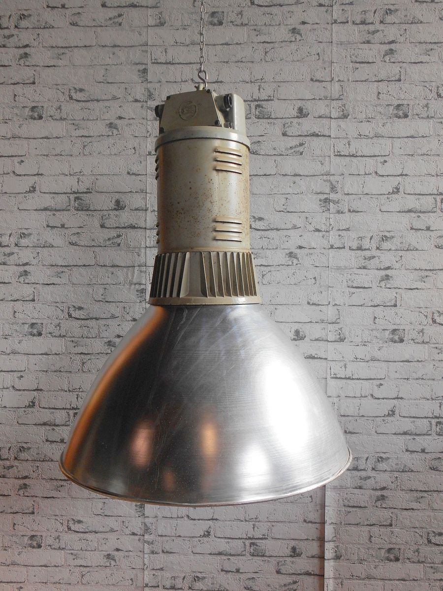 Vintage Industrial Pendant Lamp From Elektrosvit For Sale At Pamono