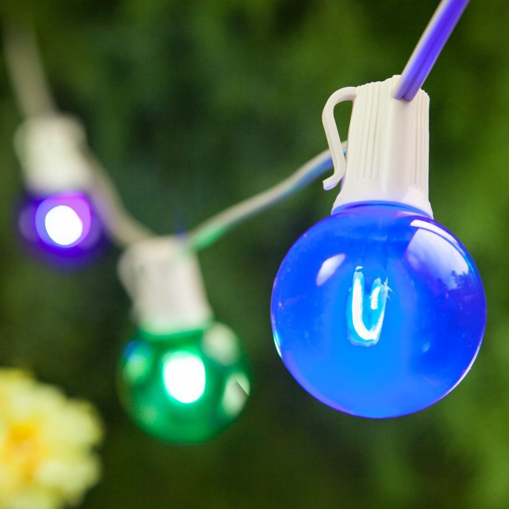 Vintage Style Led Patio Globe Lights These Colorful Lights Are