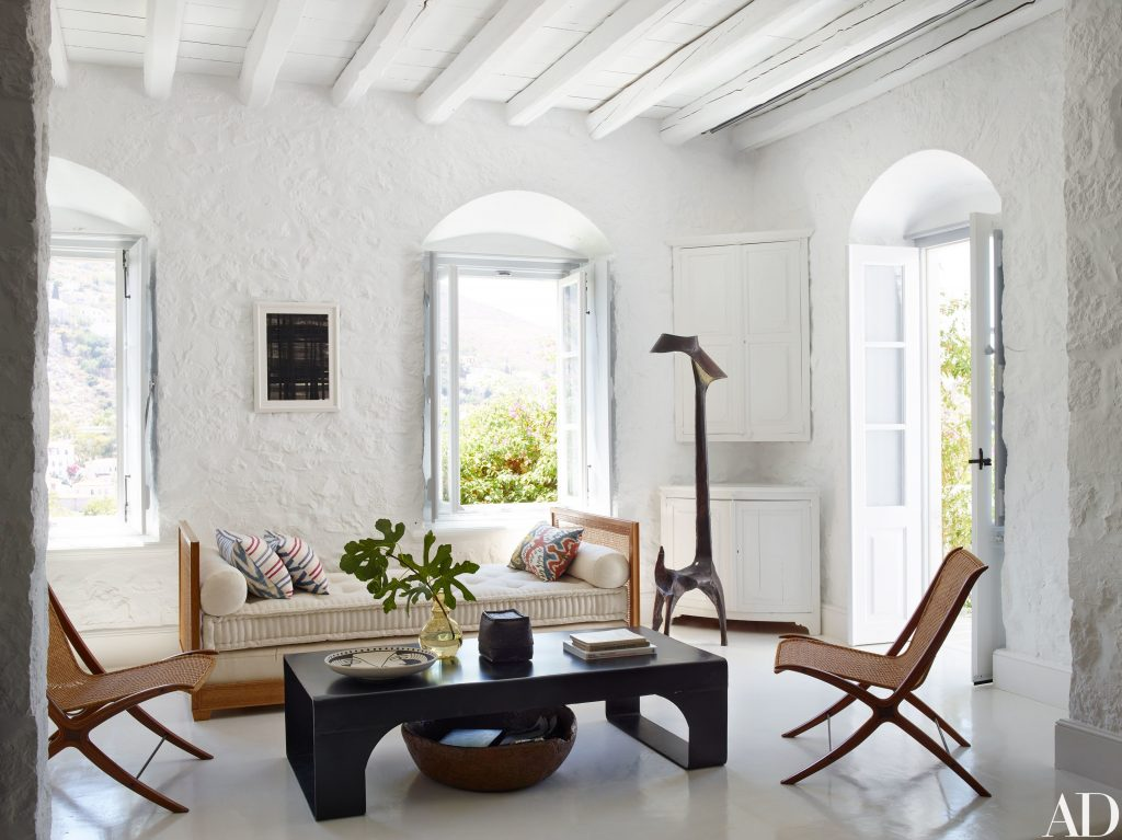 Visit A Globe Trotting Designers Vacation Home In Greece