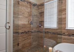 Bathroom Shower Glass Divider