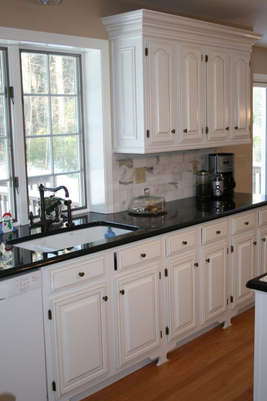 White Cabinets Black Countertops And That Faucet City Heights