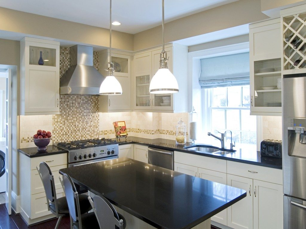 White Kitchen Cabinets Black Granite Countertops Jewtopia Project