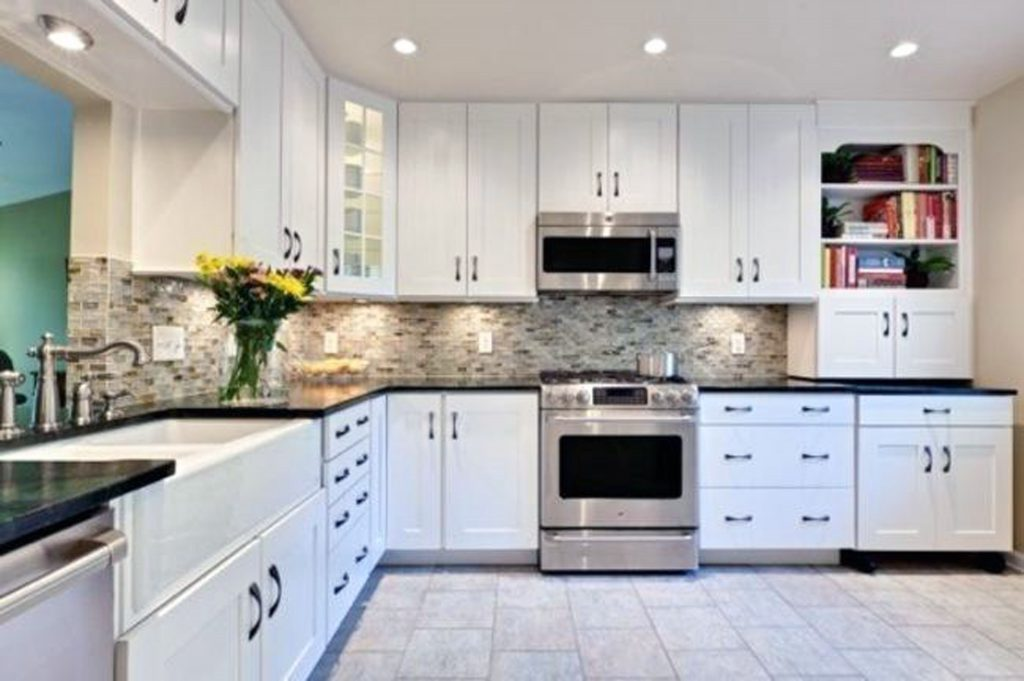 White Kitchen Cabinets With Black Countertops From Opus1classical Is