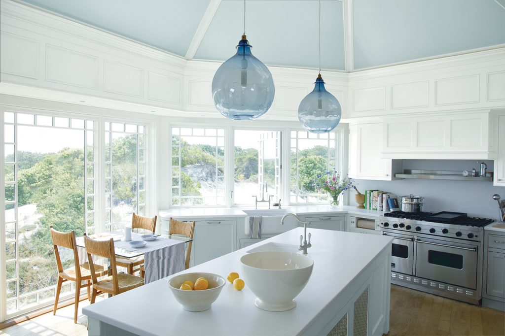 White Kitchen With Blue Ceiling Magnolia Paint Company