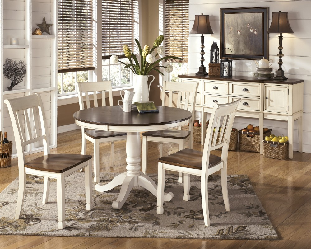 Whitesburg Round Dining Room Table Base D583 15b Table Tops