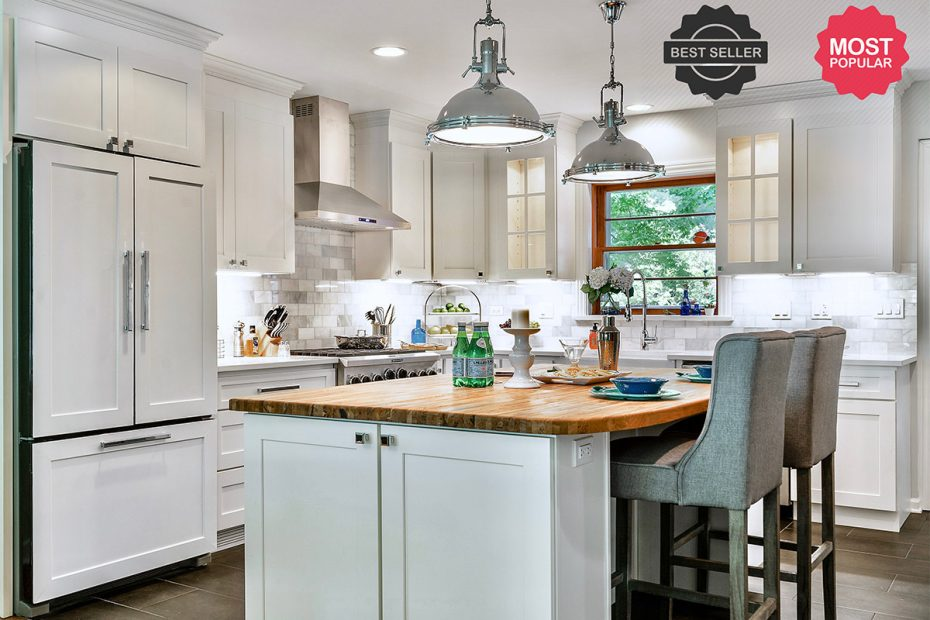 Windsor White Shaker Kitchen Cabinets Rta Cabinet Store
