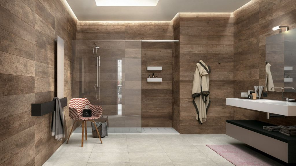 Wood Look Tile 17 Distressed Rustic Modern Ideas Design Bathroom