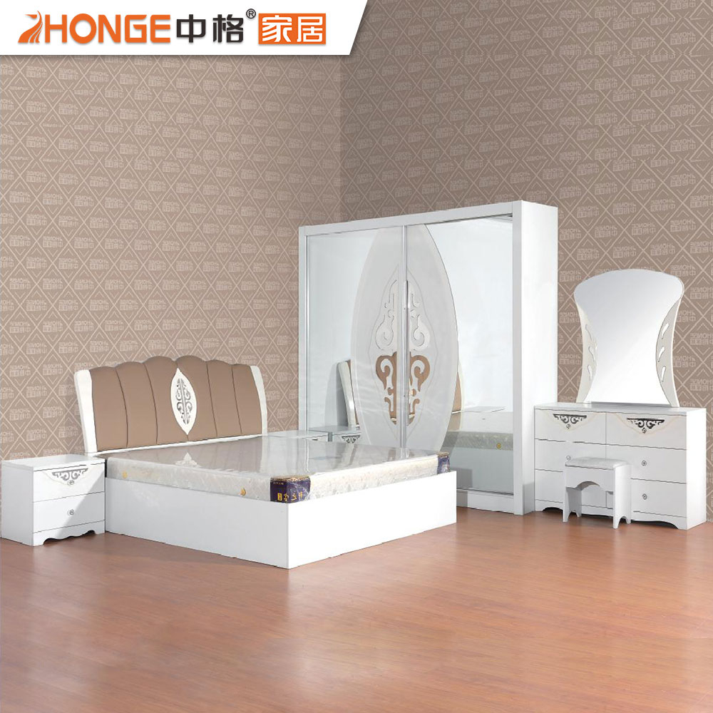 Wooden White High Gloss Beautiful Bedroom Pvc Furniture Set Buy