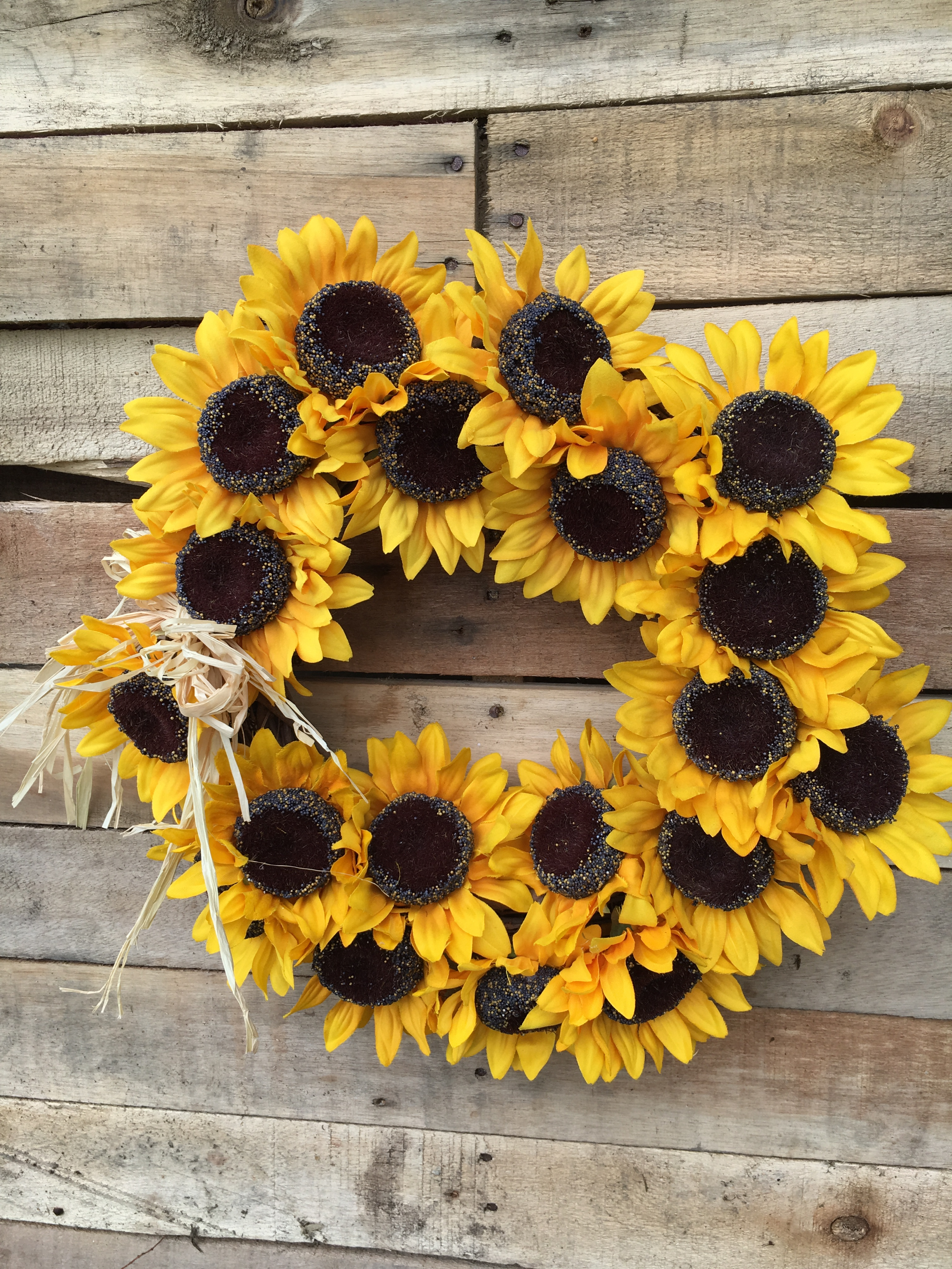 Wreath Fall Wreath Sunflower Wreath Fall Sunflower Wreath Door