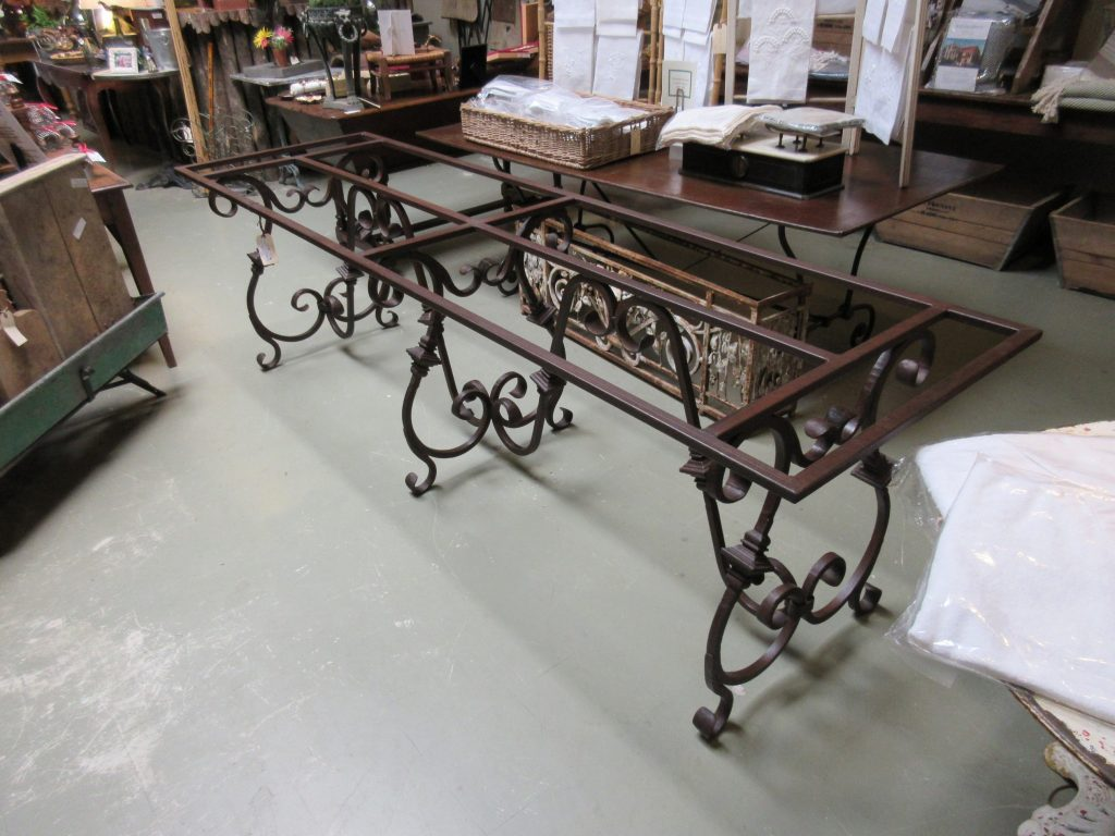 Wrought Iron Dining Room Table Base Umbrella Base Table