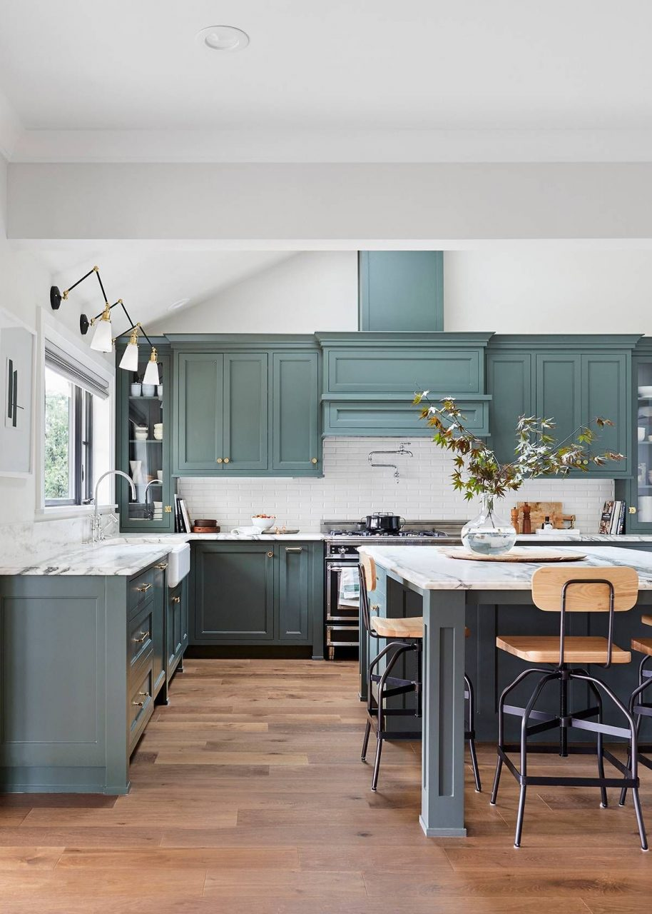 Youll Be Seeing This Shade Of Green In Every Kitchen Come 2019