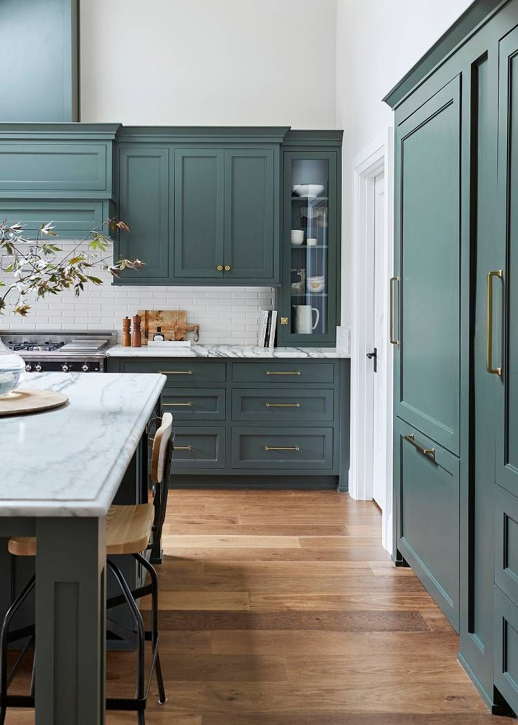 Youll Be Seeing This Shade Of Green In Every Kitchen Come 2019 In