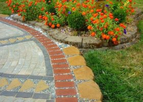 Patio Paver and Pebble Mosaic DIY