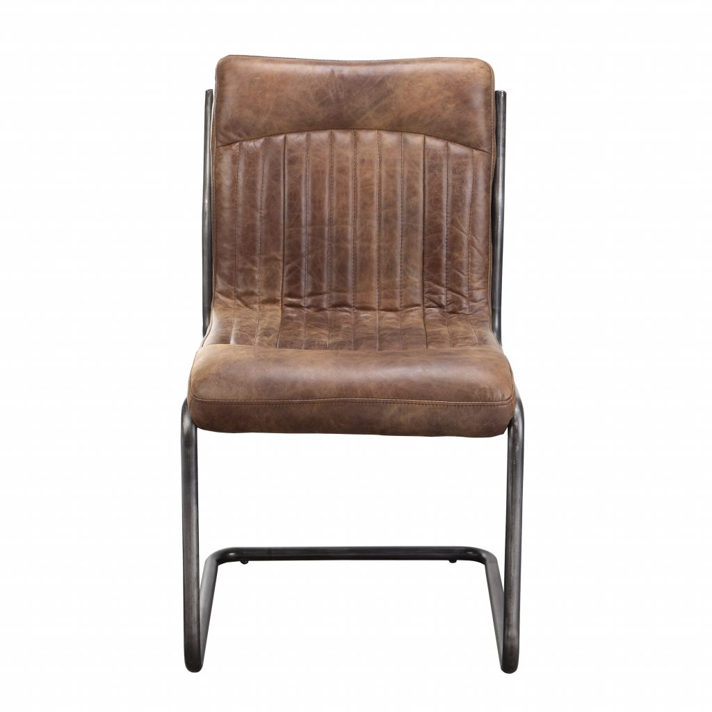 17 Stories Belmiro Modern Genuine Leather Upholstered Dining Chair