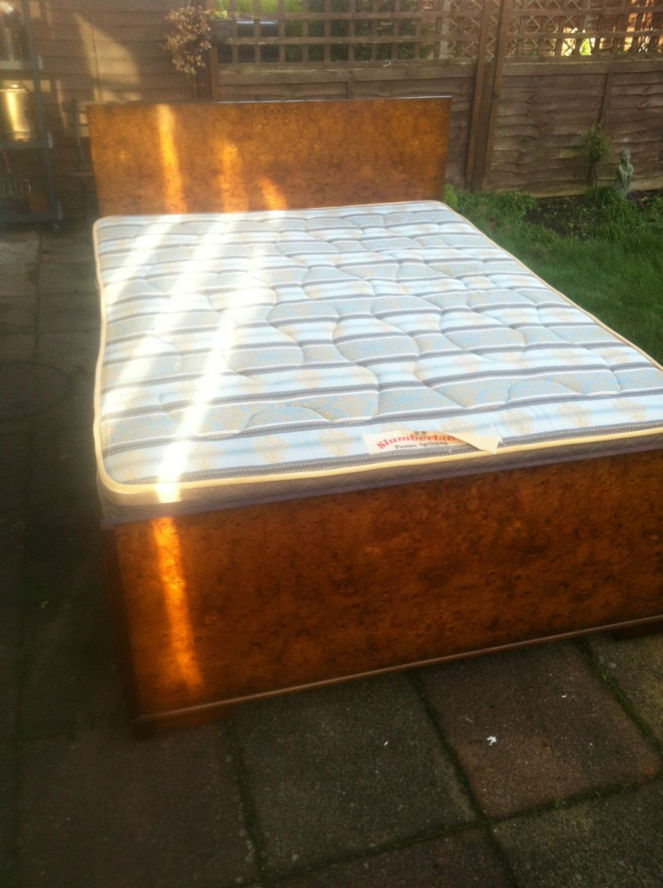 1920s1930s Art Deco Vono 46 Walnut Double Bed With Matching